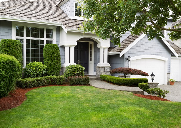 suburban home with curb appeal