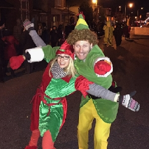 Christmas Elves at the Santa Parade of Lights 2015